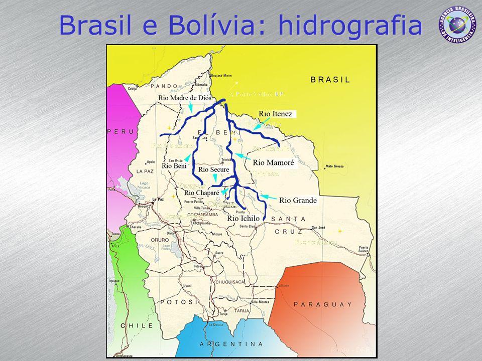 Brasil e Bolívia: hidrografia