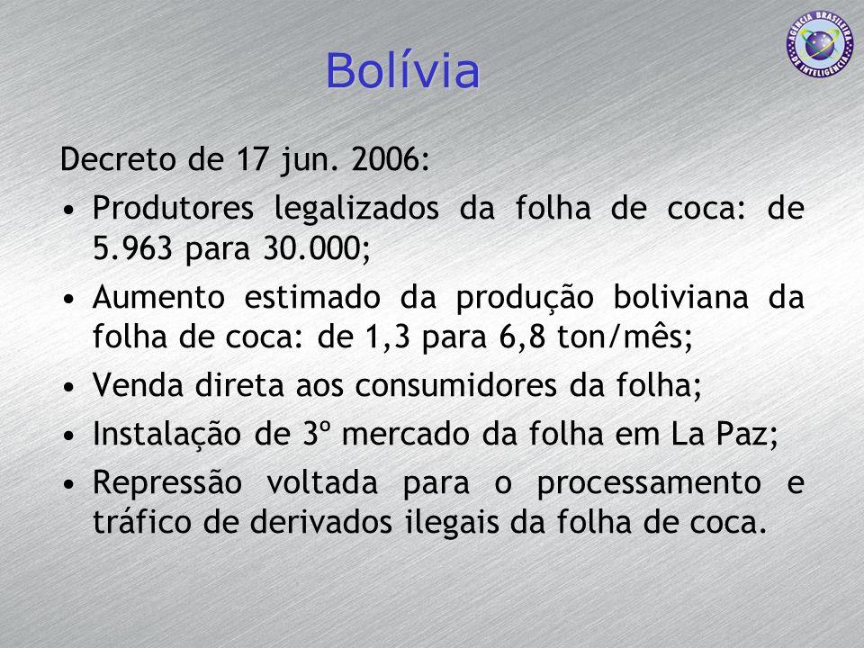 Bolívia Decreto de 17 jun. 2006:
