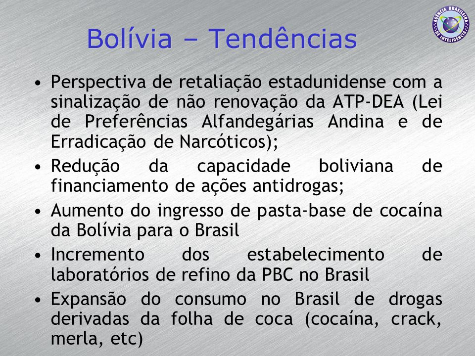 Bolívia – Tendências