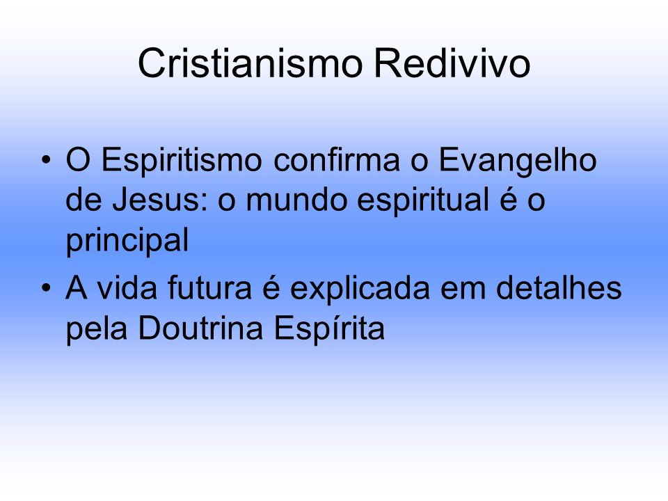 Cristianismo Redivivo