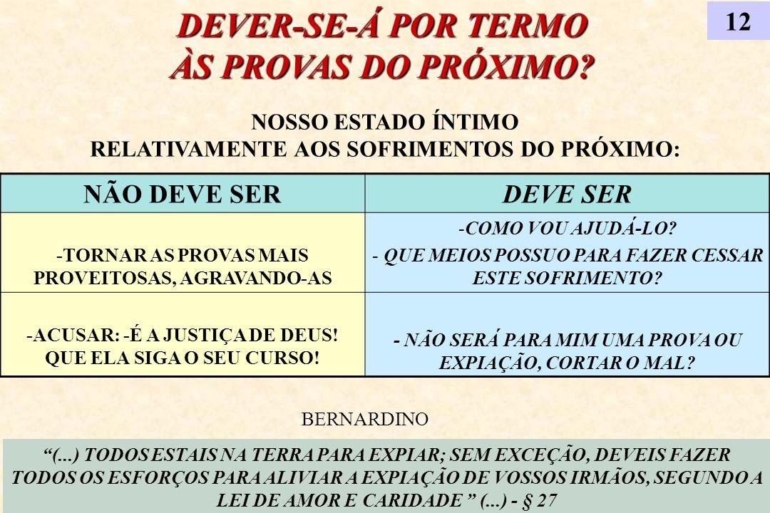 DEVER-SE-Á POR TERMO ÀS PROVAS DO PRÓXIMO