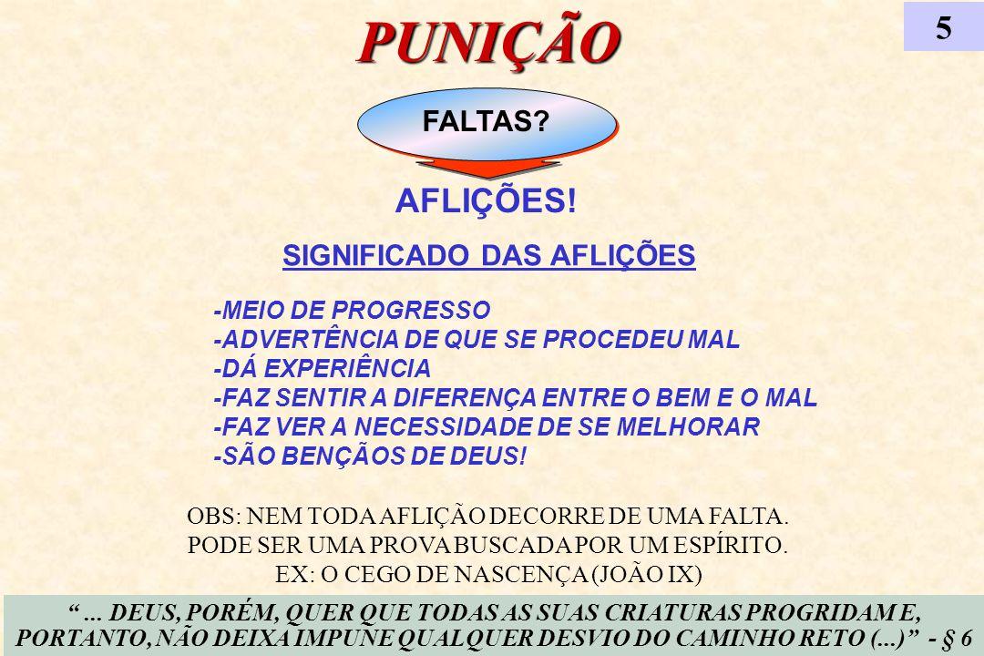 PUNIÇÃO 5 AFLIÇÕES! FALTAS SIGNIFICADO DAS AFLIÇÕES