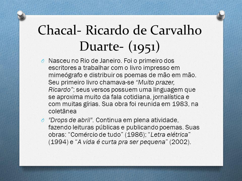 Chacal- Ricardo de Carvalho Duarte- (1951)