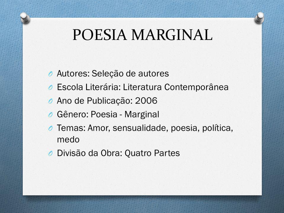POESIA MARGINAL Autores: Seleção de autores