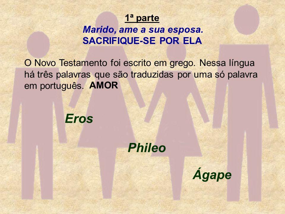 Eros Phileo Ágape 1ª parte Marido, ame a sua esposa.