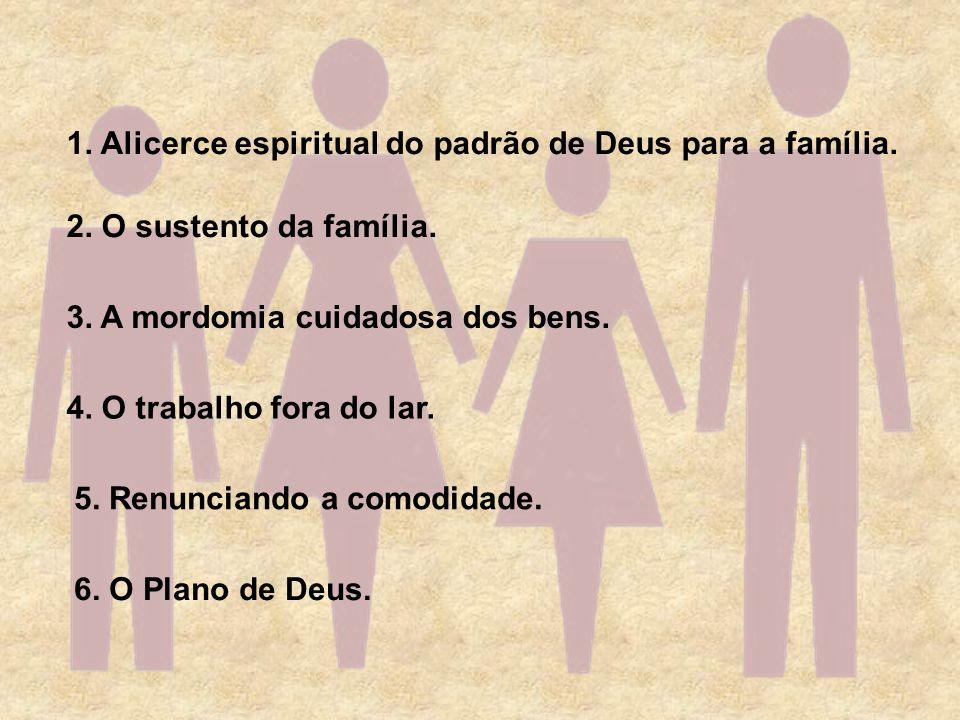 1. Alicerce espiritual do padrão de Deus para a família.