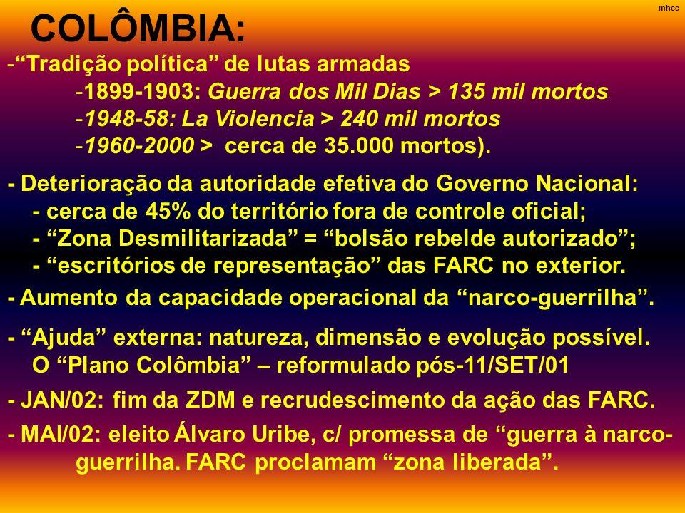 COLÔMBIA: Tradição política de lutas armadas