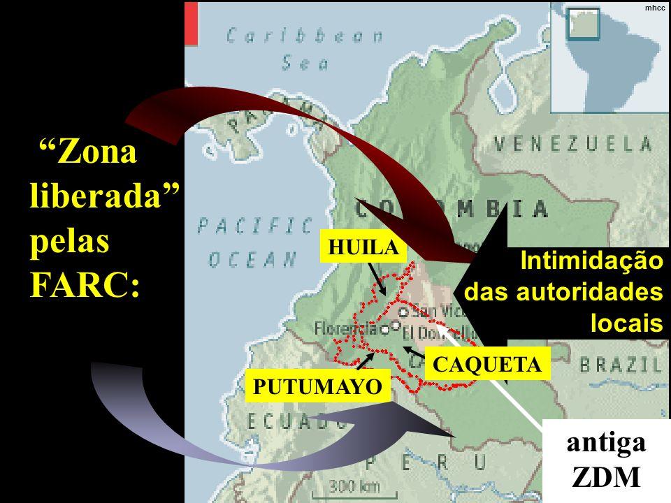 Zona liberada pelas FARC: