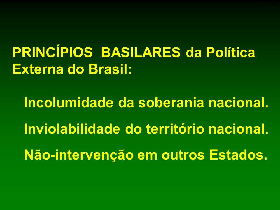PRINCÍPIOS BASILARES da Política Externa do Brasil: