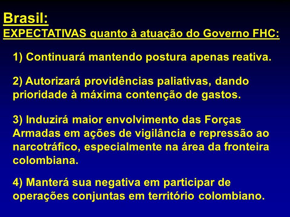 Brasil: EXPECTATIVAS quanto à atuação do Governo FHC: