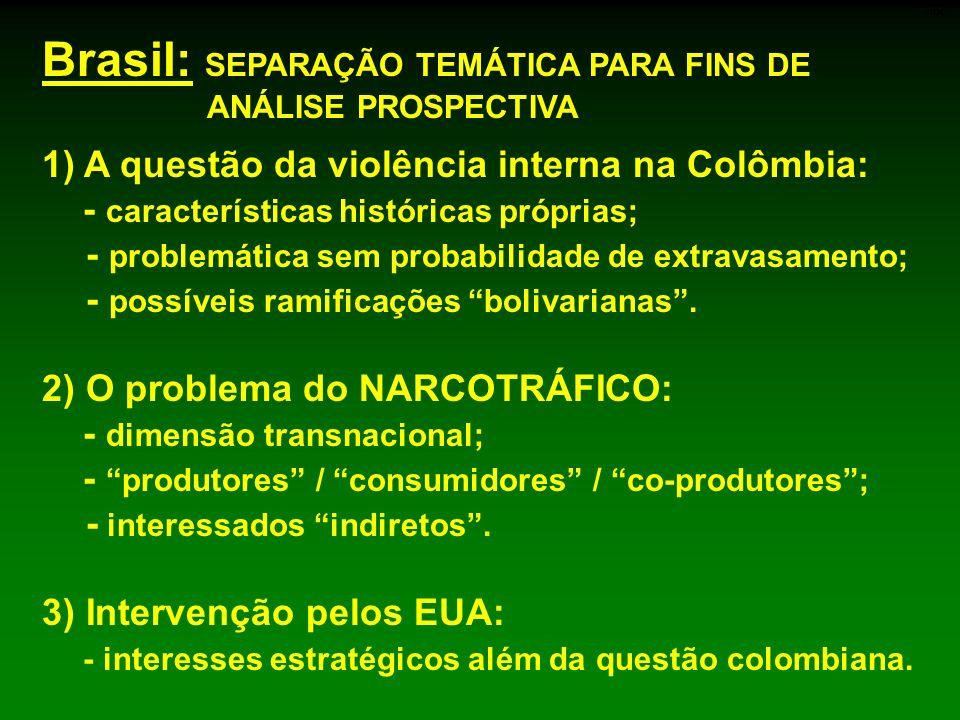 Brasil: SEPARAÇÃO TEMÁTICA PARA FINS DE ANÁLISE PROSPECTIVA