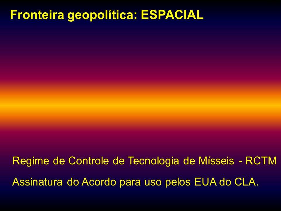 Fronteira geopolítica: ESPACIAL
