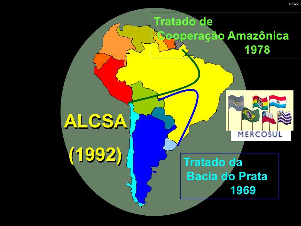 ALCSA (1992) Tratado de Cooperação Amazônica 1978 Tratado da