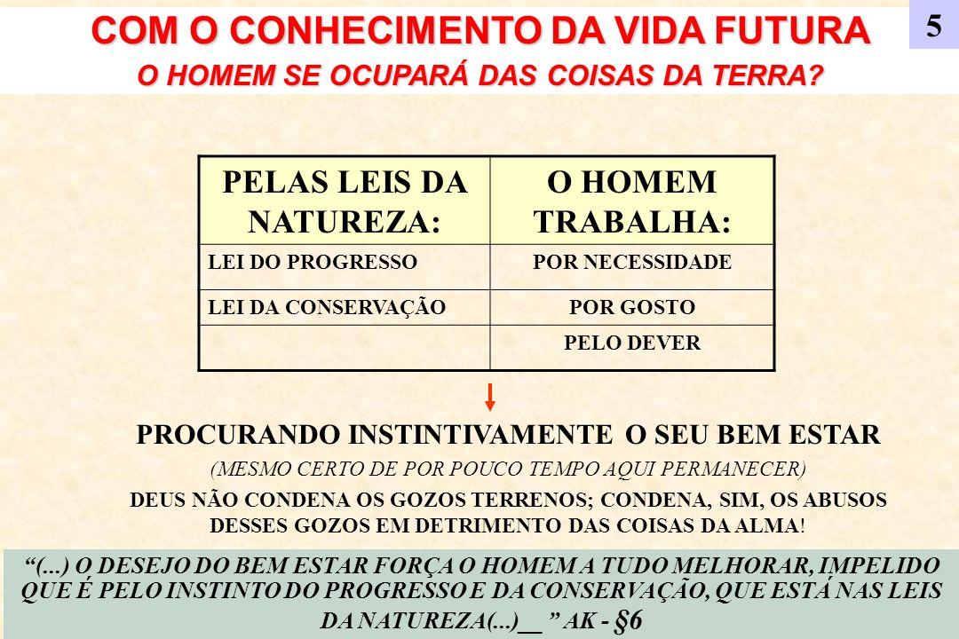 COM O CONHECIMENTO DA VIDA FUTURA