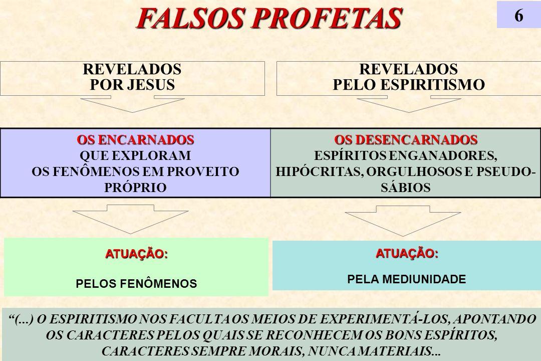 FALSOS PROFETAS 6 REVELADOS POR JESUS REVELADOS PELO ESPIRITISMO