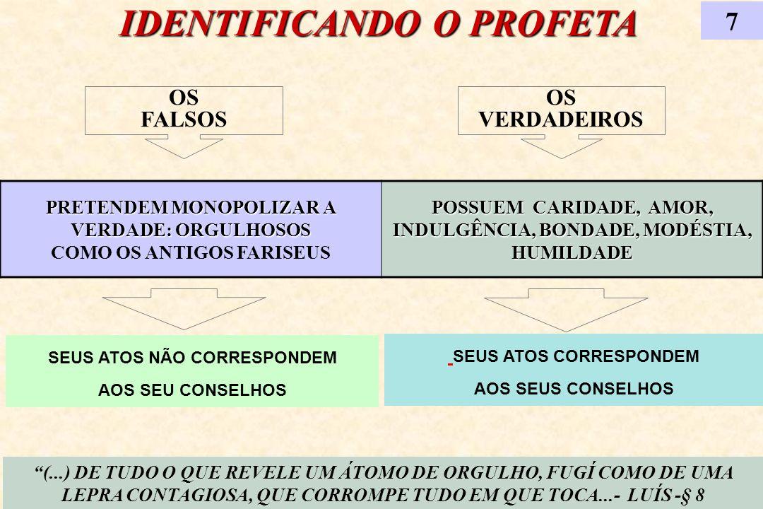 IDENTIFICANDO O PROFETA