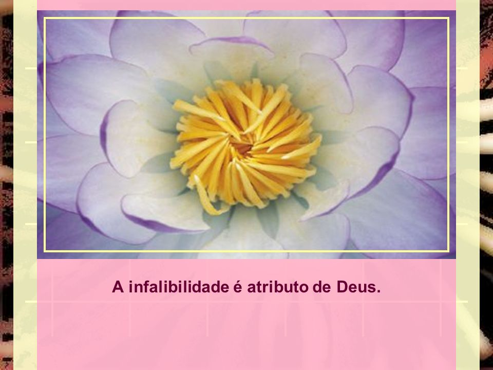 A infalibilidade é atributo de Deus.