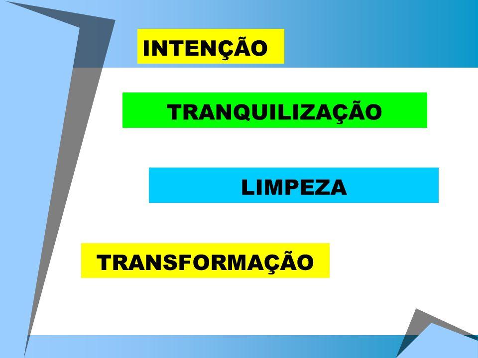 INTENÇÃO TRANQUILIZAÇÃO LIMPEZA TRANSFORMAÇÃO