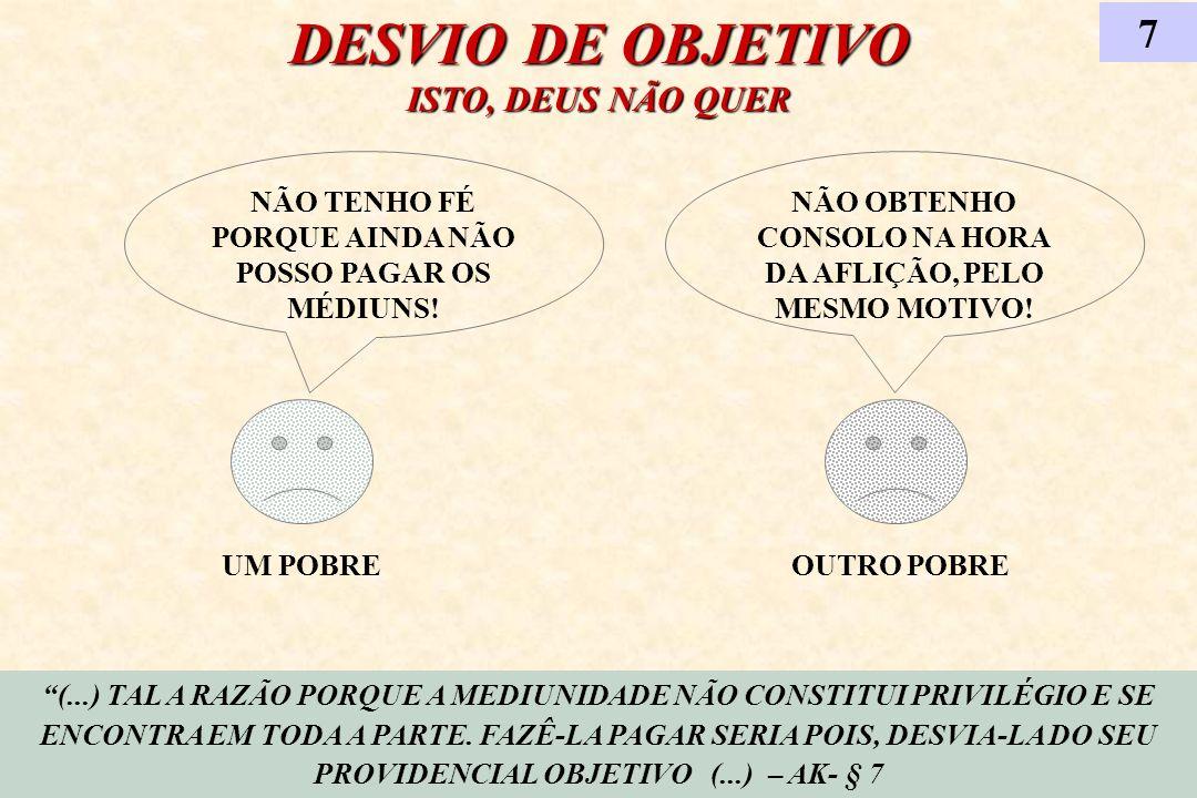 DESVIO DE OBJETIVO ISTO, DEUS NÃO QUER