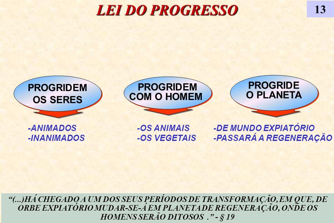 LEI DO PROGRESSO 13 PROGRIDEM PROGRIDE PROGRIDEM O PLANETA OS SERES
