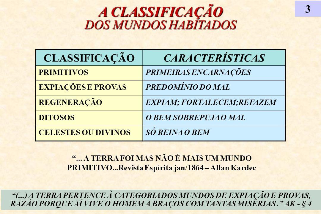 A CLASSIFICAÇÃO DOS MUNDOS HABITADOS