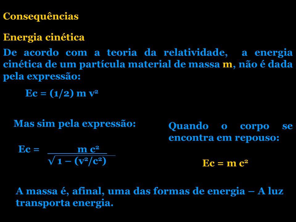 Consequências Energia cinética.
