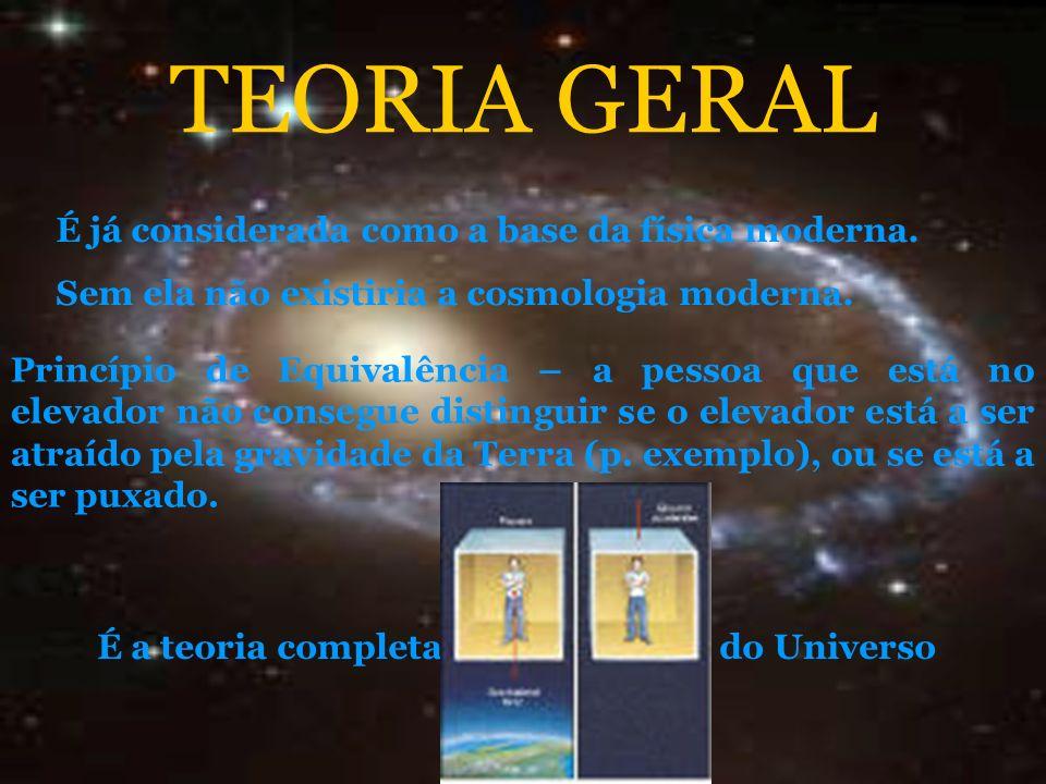 TEORIA GERAL É já considerada como a base da física moderna.