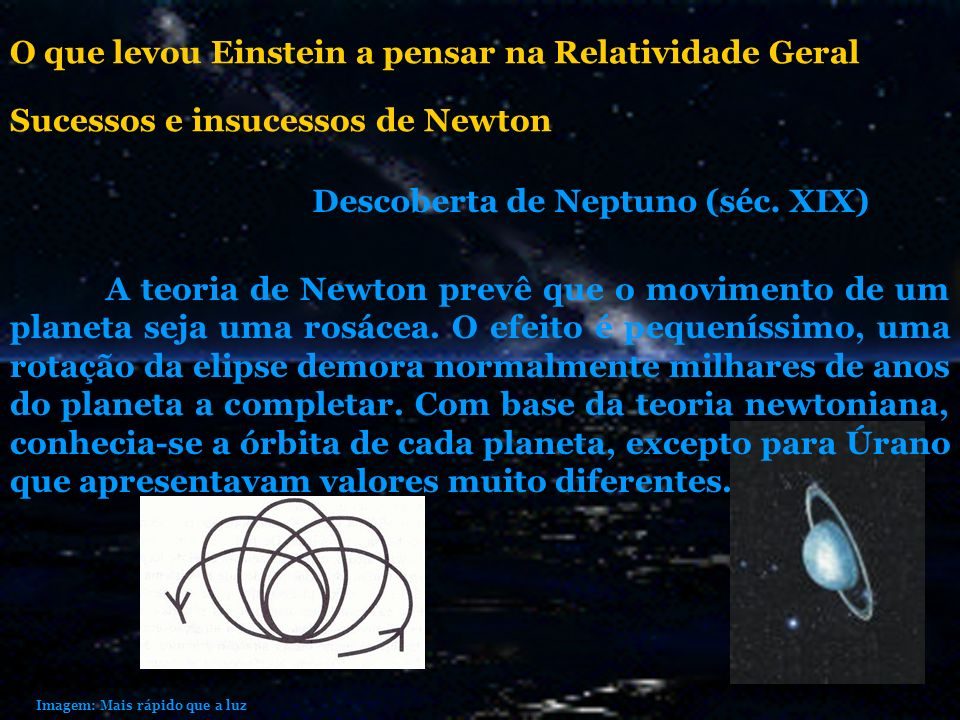 O que levou Einstein a pensar na Relatividade Geral