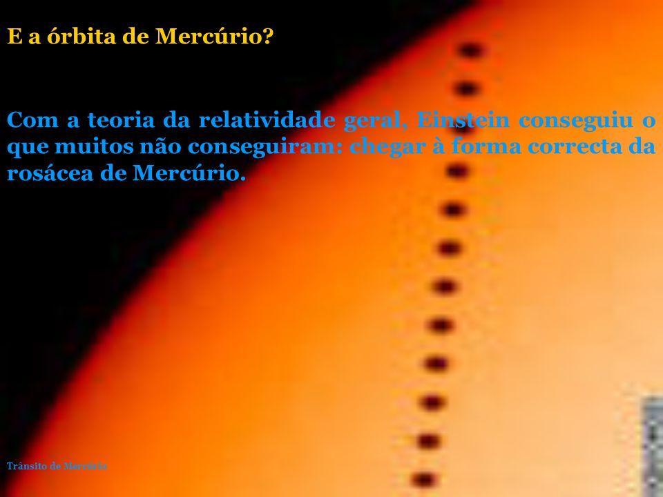 E a órbita de Mercúrio