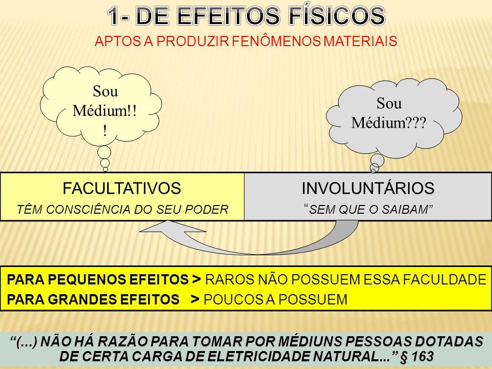 1- DE EFEITOS FÍSICOS APTOS A PRODUZIR FENÔMENOS MATERIAIS