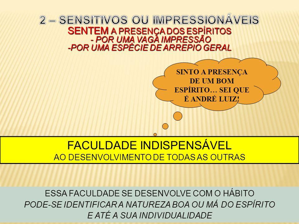 SINTO A PRESENÇA DE UM BOM ESPÍRITO… SEI QUE É ANDRÉ LUIZ!