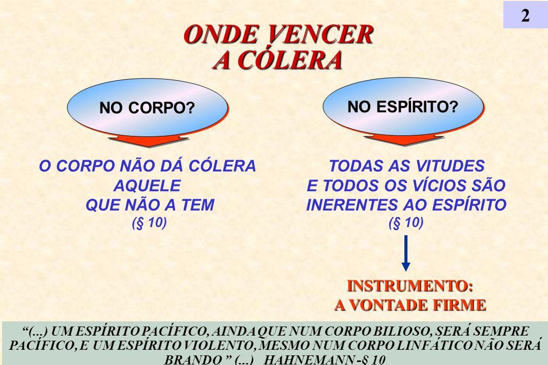 ONDE VENCER A CÓLERA 2 NO CORPO NO ESPÍRITO O CORPO NÃO DÁ CÓLERA