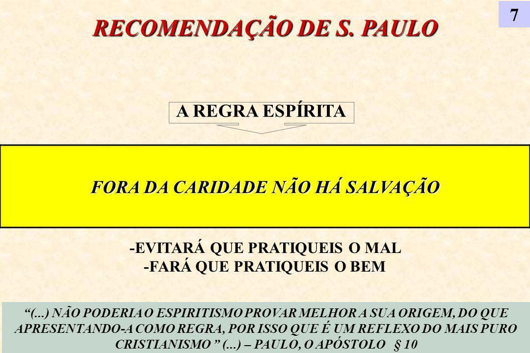 RECOMENDAÇÃO DE S. PAULO
