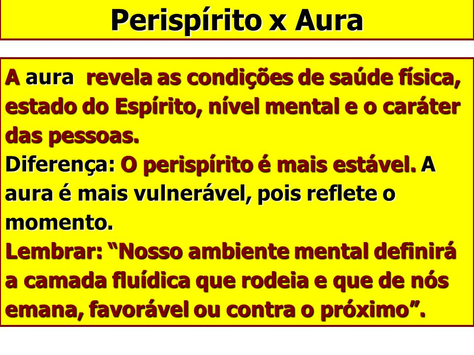 Perispírito x Aura