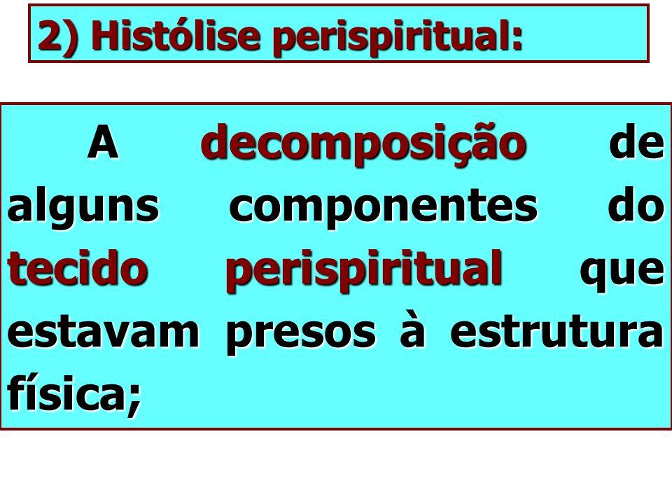 2) Histólise perispiritual: