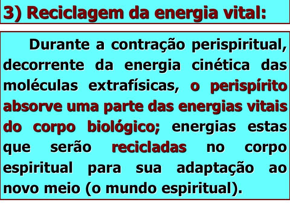3) Reciclagem da energia vital: