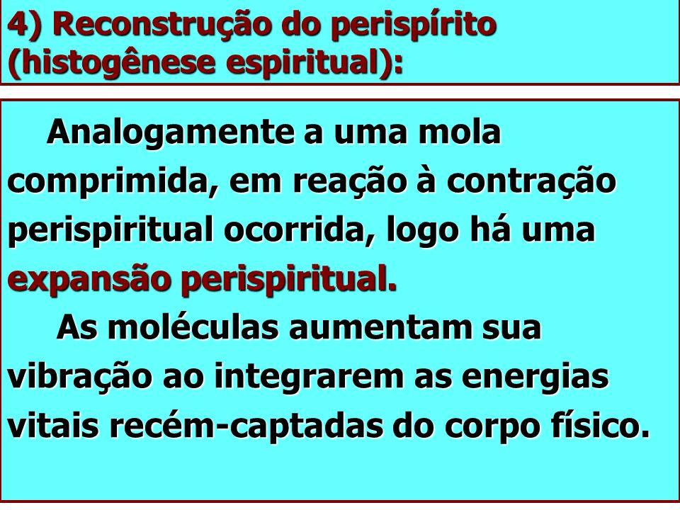 4) Reconstrução do perispírito (histogênese espiritual):
