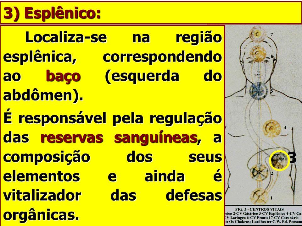 3) Esplênico: Localiza-se na região esplênica, correspondendo ao baço (esquerda do abdômen).
