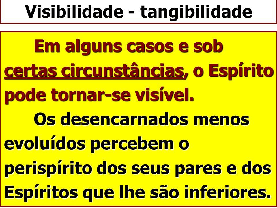 Visibilidade - tangibilidade