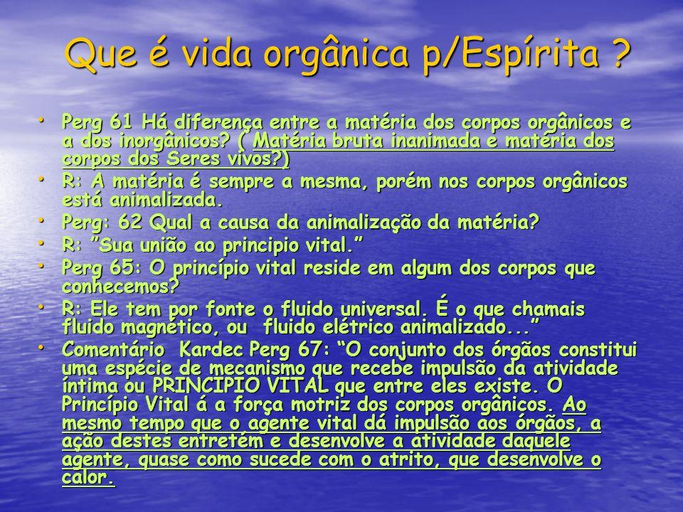 Que é vida orgânica p/Espírita
