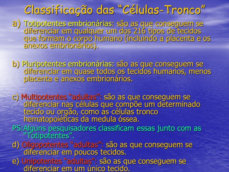 Classificação das Células-Tronco