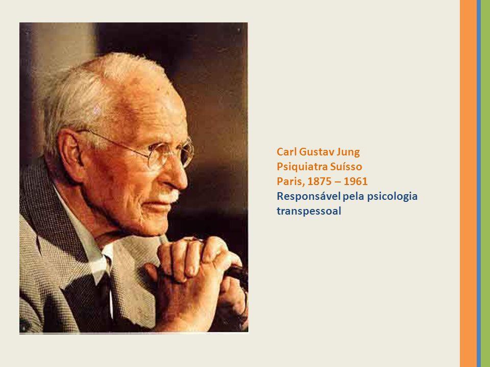 Carl Gustav Jung Psiquiatra Suísso Paris, 1875 – 1961 Responsável pela psicologia transpessoal