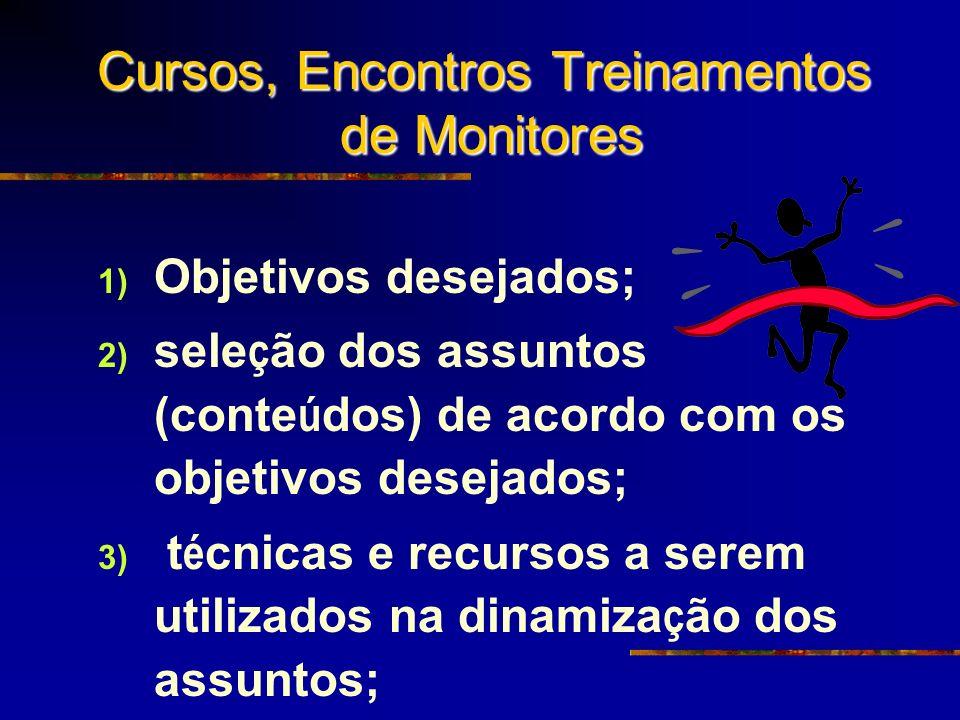 Cursos, Encontros Treinamentos de Monitores