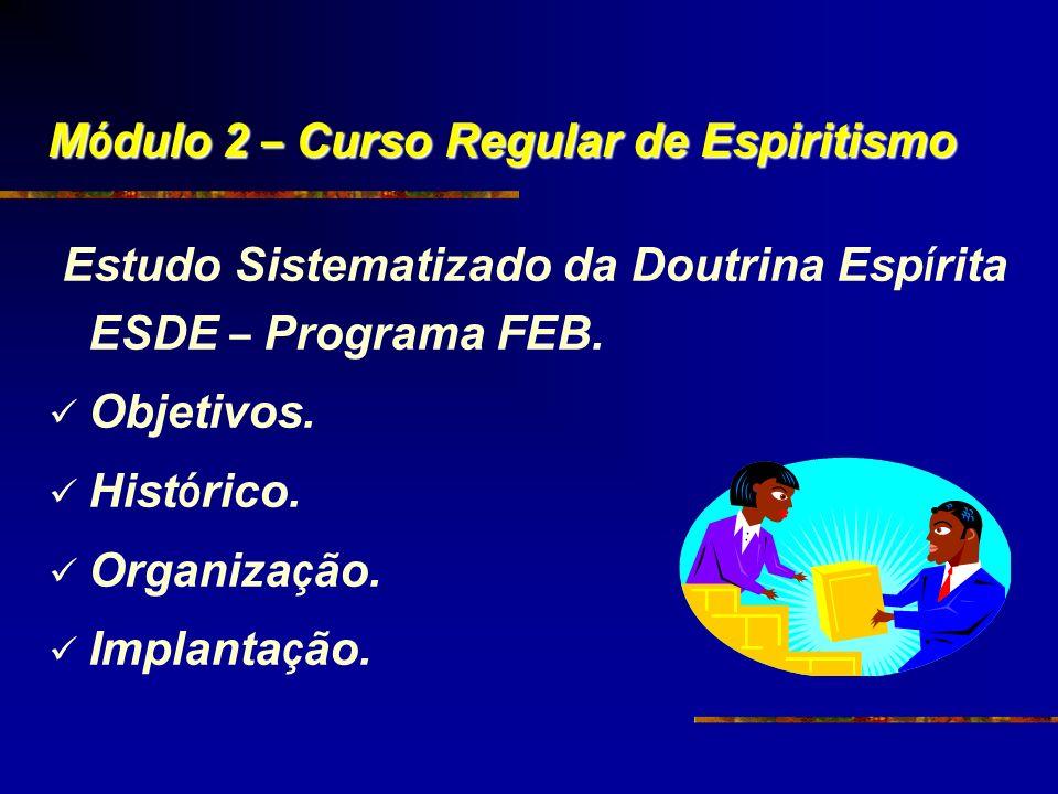 Módulo 2 – Curso Regular de Espiritismo
