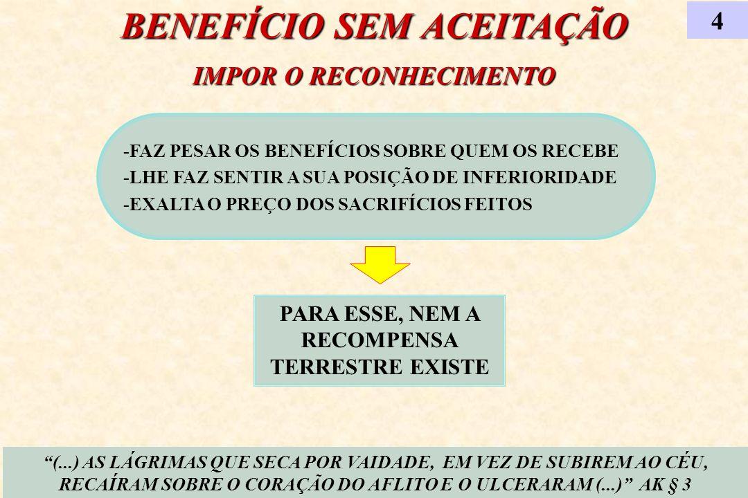 BENEFÍCIO SEM ACEITAÇÃO