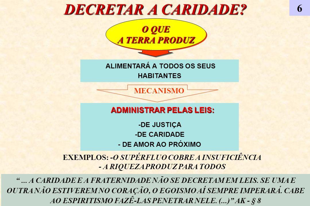 DECRETAR A CARIDADE 6 A TERRA PRODUZ MECANISMO