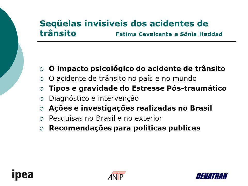 Seqüelas invisíveis dos acidentes de trânsito Fátima Cavalcante e Sônia Haddad