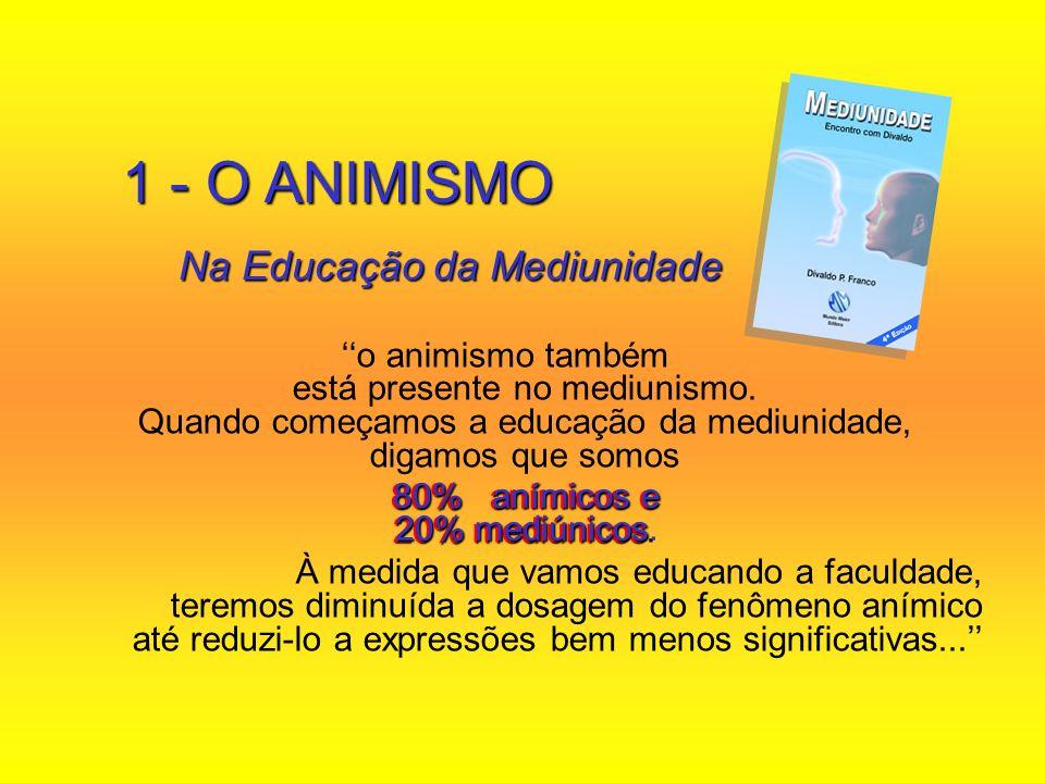 1 - O ANIMISMO Na Educação da Mediunidade
