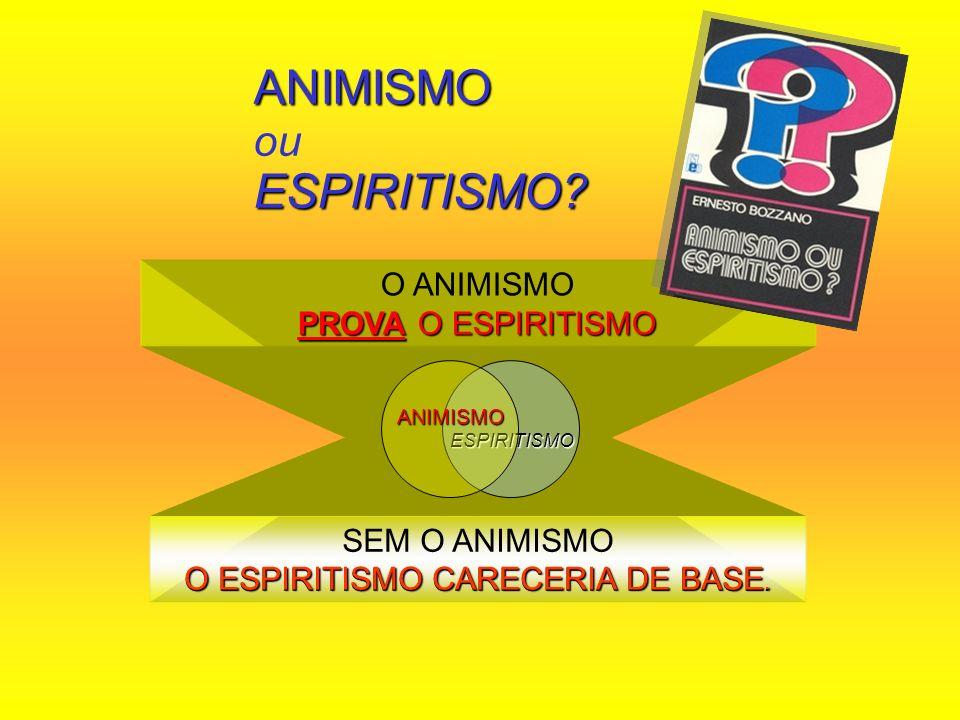 ANIMISMO ou ESPIRITISMO