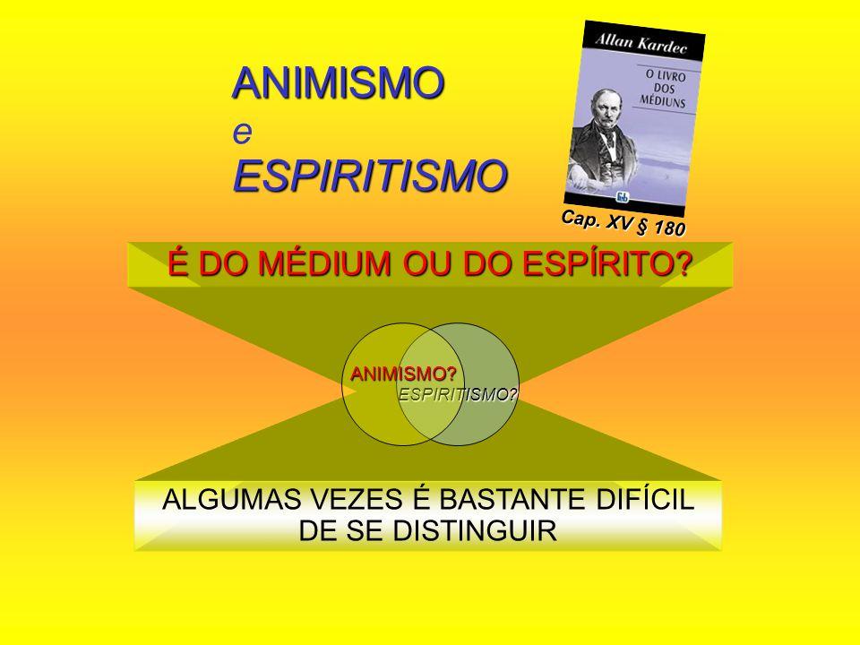 ANIMISMO e ESPIRITISMO
